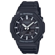 【CASIO】 G-SHOCK 農家橡樹八角雙顯錶-黑X銀 (GA-2100-1A) 正品公司貨