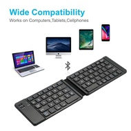 Mini Portable Folding Wireless Bluetooth Mute Keyboard IPad Tablet Keyboard