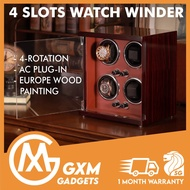 XIMI Premium Automatic Watch Winder Display Box Collector Display Box Watch Case Quiet Motor Red Wood