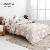 【京都西川】100%純棉 四件式薄被套平單床單組 熊森林(雙人9X10)