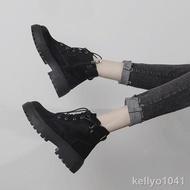 ﹉御姐范~馬丁靴女2019新款英倫風百搭短靴加絨潮鞋棉鞋秋鞋黑色靴子秋冬季cat 靴子