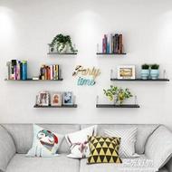 牆壁置物架簡約現代擱板客廳壁掛創意牆壁一字隔板臥室書架免打孔 NMS陽光好物