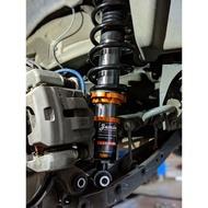 Subaru Forester 倒叉避震器 高低軟硬可調 反置式雙阻尼