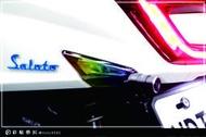 彩貼藝匠(台中店)Saluto 後方向燈 彩虹膜 貼紙 特殊材料 車膜 機車貼紙