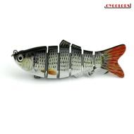 路亞多節魚餌 多節仿生假餌 10cm仿真餌 多節魚 18G