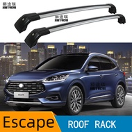2Pcs บาร์หลังคาสำหรับ Ford Escape 2019 + SUV อลูมิเนียมแถบด้านข้างรางข้ามแร็คหลังคากระเป๋าเดินทาง CUV SUV
