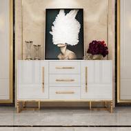 【鋼琴烤漆工藝輕奢餐邊櫃後現代簡約客廳多功能儲物櫃子酒櫃收納櫃餐廳傢俱】
