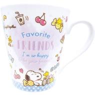 大賀屋 日貨 史努比 杯子 杯子 杯碗組 餐具 容器 水杯 陶瓷杯 馬克杯 咖啡杯 史努比 正版 J00017524