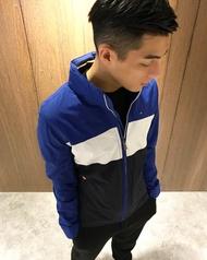 美國百分百【全新真品】Tommy Hilfiger 外套連帽 防潑水 TH 夾克 風衣 經典 藍色 S號 J601