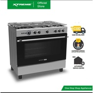 XTREME HOME 90cm Gas Range 5Burner 115L Oven Electric Ignition