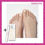 Dashing Diva - Magic Press MWK071P 足部超薄甲片-奶油白 加配 品牌指甲銼