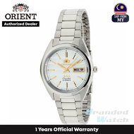 [Official Warranty] Orient FAB00007W Men's Analog Automatic 3 Star Stainless Steel Strap Watch