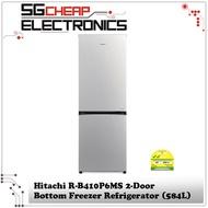 Hitachi R-B410P6MS 2-Door Bottom Freezer Refrigerator (330L)