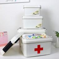 口罩收納箱 手提醫藥箱創意家用藥箱 急救醫療箱健康扶貧贈品藥盒