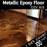 Metallic Epoxy Floor Floor Coating Clear Epoxy Resin for Flooring Metallic Powder