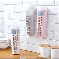 壁掛式筷籠 筷子收納桶 餐具收納盒附蓋 廚房收納架【Miss Sugar】【D900120】