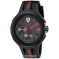 2016新款法拉利手錶時尚精品錶FXX款,編號:830223,黑色錶面黑色矽膠錶帶款