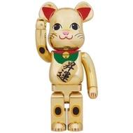 "[In-stock] BE@RBRICK Maneki Neko 1000% ""Sho-Un"" (Rising Fortune) Gold-plated lucky cat bearbrick 升运"