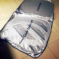 [老雷]VW 福斯 logo 前檔汽車遮陽簾 golf new Tiguan polo toruan Passat 遮陽