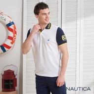 Nautica造型領短袖POLO衫-白色