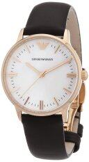 EMPORIO ARMANI Women CLASSIC White dial Leather band Watch ar1601
