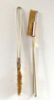 แปรงล้างเครื่อง แปรงขัดซอก มุม ที่แคบ แปรงขัดสนิม แปรงขัดเหล็ก แปรงลวดทองเหลือง มีด้าม