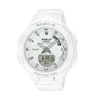 【CASIO 卡西歐】BABY-G 時尚運動藍牙雙顯錶 天使白 防水100米 計步器(BSA-B100-7A)