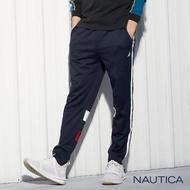 【NAUTICA】經典側邊織帶設計運動長褲(深藍)
