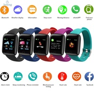 【READY】116 PLUS smart bracelet watch color screen heart rate blood pressure monitoring track movement IP65 waterproof 116 plus Smart Watch Heart Rate Blood Pressure Waterproof Smart Bracelet New 116 Plus Smart Watch Original Silicone Wrist Strap Smart