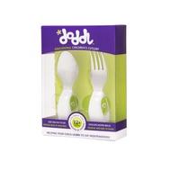 Doddl 人體工學嬰幼兒學習餐具二件組-綠色