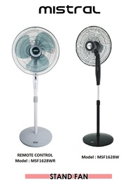 Mistral 16 inch Stand Fan With Remote Control (MSF1628WR)  Mistral 16 inch Stand Fan (MSF1628W)