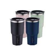 【義大利 Black Hammer 原廠】 陶瓷不鏽鋼保溫保冰晶鑽杯(附贈吸管)-四色可選| 冰霸杯 吸管杯