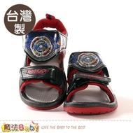 【魔法Baby】男童鞋 台灣製戰鬥陀螺正版閃燈運動涼鞋 電燈鞋(sa05500)