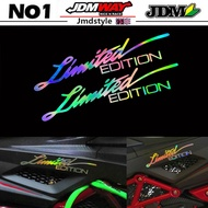 1Pcs Limited Edition Car Body Stickers Refit Reflective Stickers Car Stickers Motorcycle Decals
