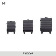 MOOF49 | Ginza Wave Luggage SET 20 & 24 & 29 inch | กระเป๋าเดินทางรุ่น Ginza Wave ล้อลาก 4 ล้อ 360 องศา ขนาด 20 & 24 & 29 นิ้ว (ราคา SET)