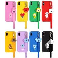 [BTS] BT21 LINE FRIENDS Official iPhone Strap Phone Case