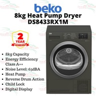 Beko 8kg Tumble Dryer (Heat Pump) DS8433RX1M [KL/SELANGOR]