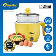 PowerPac Steamboat 1L Electric Cooker Multi Cooker noodle cooker with Steamer (PPJ2012)
