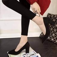 ✨✨รองเท้าส้นสูงแฟชั่นขายดี รองเท้าคัชชูส้นสูง 3 นิ้ว สีเทา / สีดำ / สีแดง ✨✨