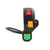 Redcolourful 3 in 1 Combination Switch Turn Signal Horn Modification Switch for Electric Bike Motorcycle