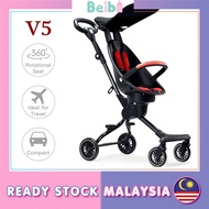 Beibi Shop BaoBaoHao V5 Upgraded Lightweight Magic Stroller Baby Trolley Kids Travel Foldable Two-way Facing Seat Cover