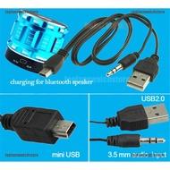 USB2.0 Charging Cord to Mini USB Male 3.5mm Jack Plug Audio Bluetooth Cabl