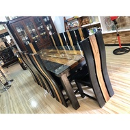 10 Seaters Acacia Dining Table Set
