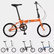 [From ] FOREVER 16 Inch Folding Bicycle Aluminum Lightweight Foldable Mini Bike V Brake Urban Commut
