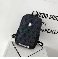 Adidas_Issey Miyake 3D Roll Top Street Fashion Casual Student Backpack For Women And Men School Bag For Girls And Boys To Climbing Racing Hiking Cycling Camping Travel Sport