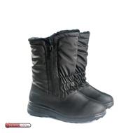 [現貨]ESKT 台灣 女 中筒刷毛雪靴 黑/ SN192/中筒保暖雪靴/雪鞋/冰爪