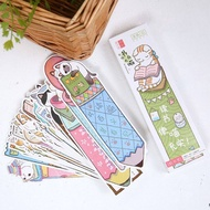30pcs/lot The Cute Bookworm Cats Reader Paper Bookmark for Books Clips Book (B009-M0360)