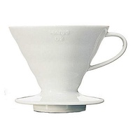 【HARIO】V60白色02陶瓷濾杯1-4杯(VDC-02W)