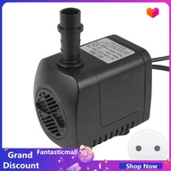 Fantasticmall Aquarium Water Pump Fountain Pump Submersible Water Fountain , 15W with 12leds Light Fish Tank Pond Oxygen 220GPH 2 Nozzles Pool -