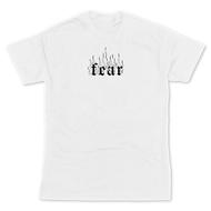 kaos aesthetic streetwear distro DMKAOS FEAR tumblr tee combed hype ootd unisex M L XL t-shirt millenial
